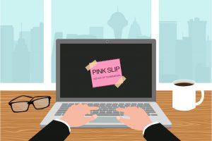 Pink Slip on computer screen