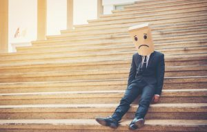 Sad Emotions on Stairs