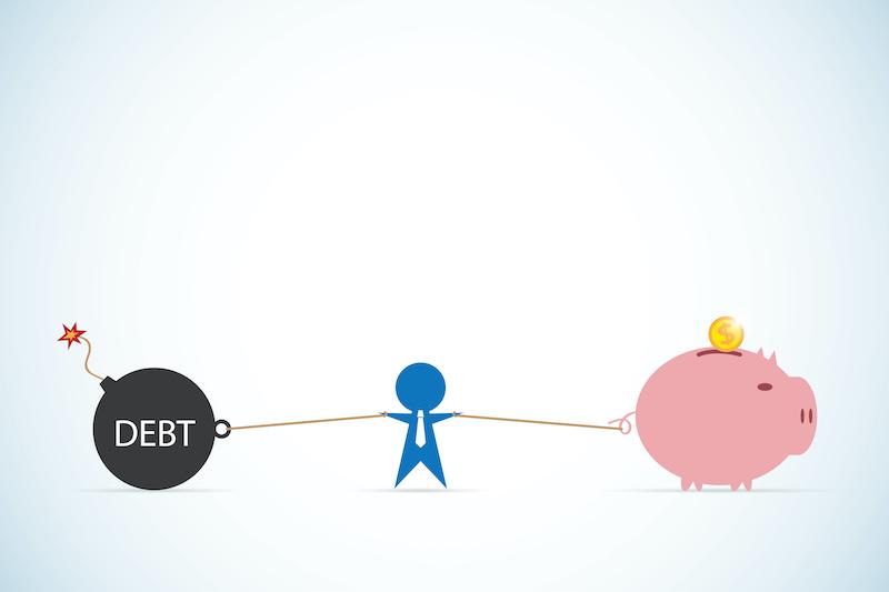 Reduce debt to improve credit scores