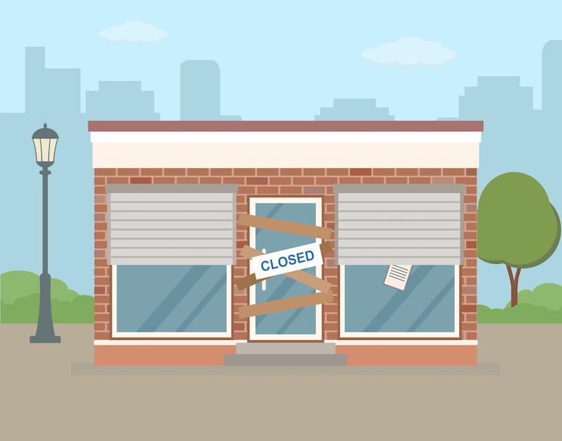 Businesses Shuttering